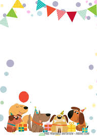 Free Printable Delighted Dogs Invitation Templates