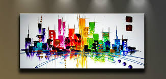 interior design unique colorful elephant canvas art for