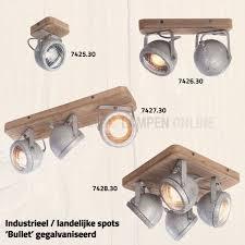 Industriële Plafond Spot 2 Lichts Zwart Gun Metal