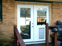 sliding glass doors with pet door installed dog for french extraordinary built in