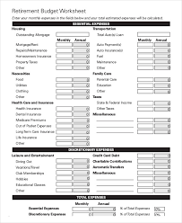Monthly Budgeting Worksheet Magdalene Project Org