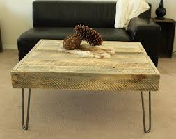coffee table square wood coffee table unique wood color and iron table legs of the