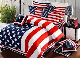 american flag bedding set striped duvet cover bed sheets bedspreads king size queen double cotton bedsheet bedset bedroom thick western
