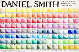 Daniel Smith Watercolor Chart 1 Color Mixing Chart Smith