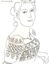 Matisse Romanian Blouse Drawing Masterpieces Adult Coloring Pages