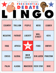 buzzword bingo generator lilatovcocktail so many bingo cards so few presidential debates