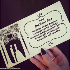 Totally Free Wedding Invitation Cards Online With Name