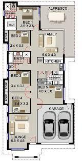 5 bed room house plan narrow block design australian houses narrow