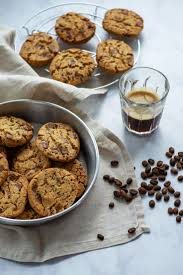 An old fashioned chocolate chip cookie that has been spiked with a coffee liqueur. Repin And Click To Get The Recipes For These Chocolate Chip Cookies With Crushed Coffee Bean Best Chocolate Chip Cookies Recipe Coffee Recipes Homemade Cookies