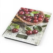 <b>Весы</b> для кухни <b>MARTA MT</b>-<b>1634</b> Садовая вишня