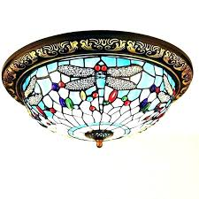 stained glass ceiling fan light shades style with g