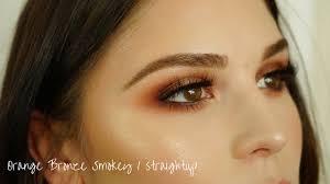 orange bronze smokey eye straightup
