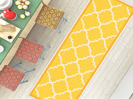 yellow accent rug new dallas moroccan trellis yellow gold and white modern geometric