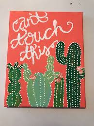 cactus canvas painting diy paintings easy things to paint on a personal favorite from my