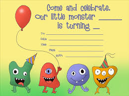 Lil Monster Birthday Invitations 50 Positive Monster Party Invitations Overtownpac Org