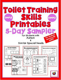 Potty Training Printables Toilet Training Skills Printables For Students With Autism Sampler
