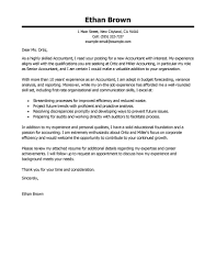 Cover Letters Letter Template Accounting Finance Accountant