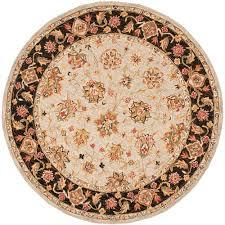 safavieh chelsea light blue black 4 ft x 4 ft round area rug