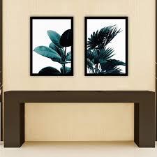 Arichtop Panel 2 Unframed Grü Npflanze Blatt Leinwand Wandmalerei