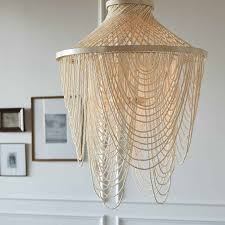 palecek mariana beaded chandelier chandelier is fully beaded with from chandeliers with wooden beads