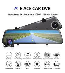 E ACE Car Dvr <b>12 Inch</b> Stream Media RearView Mirror <b>2K</b> Night ...