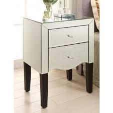 Mirrored bedside furniture White Gloss Monaco Mirrored Bedside Table Drawer Mirror Furniture My Furniture Buy Mirrored Bedside Tables Online