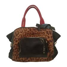 leather handbag paule ka animal prints