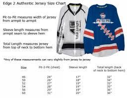Nhl Jersey Size Chart Reebok Hockey Jersey Sizing Chart Youth