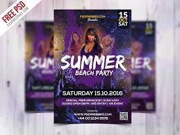 Free Party Flyer Templates Summer Beach Party Flyer Template Free Psd Psdfreebies Com