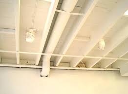 Basement Ideas Open Ceiling Basement Picture Designs - Painted basement ceiling ideas