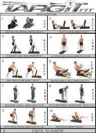 Gym Biceps Workout Chart Workout Charts For The Targitfit Portable Gym