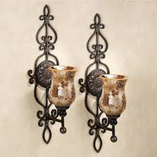 metal wall sconces mosaic candle large tuscan style