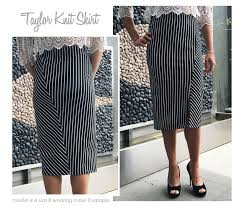 Knit Skirt Pattern Simple Taylor Knit Skirt Style Arc