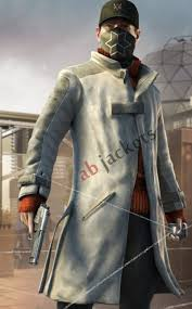 watch dogs aiden pearce white hat er trench coat