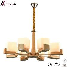 modern decorative wood round metal chandelier with bedroom
