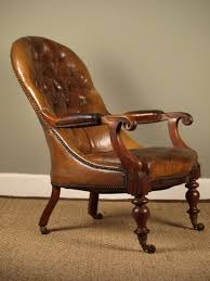 a mid victorian leather library chair antiques atlas victorian library chair