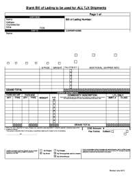 bill of lading software free fillable online blank bill of lading to be used for all tjx