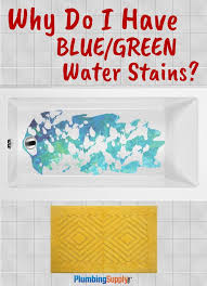 have you ever had blue or green staining on fixtures it happens but why