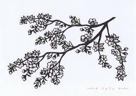 切り絵 No89葉桜 ツェツェの部屋