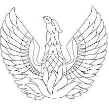 Phoenix Bird Coloring Page Free Printable Coloring Pages