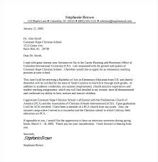 Cover Letter Template Teaching Position First Year Teacher Cover