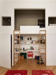 Loft bed with built in desk 22