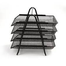 desk paper tray. Interesting Desk Mind Reader 4Tier Steel Mesh Paper Tray Desk Organizer Black In R