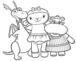 Small Picture Doc mcstuffins coloring pages stuffy lambie hallie ColoringStar