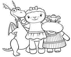 Doc Mcstuffins Coloring Pages Stuffy Lambie Hallie Coloringstar