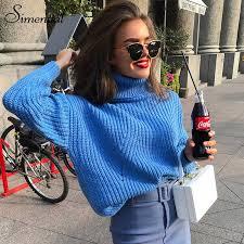 <b>Simenual</b> Fashion <b>turtlenecks sweaters</b> women winter 2018 <b>autumn</b> ...