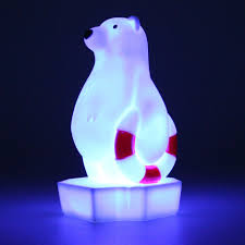 Polar Bear Night Light Polar Bear Colour Changing Night Light With 15 Minute Timer