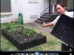 free plastic crate raised bed garden