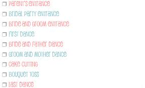 Wedding Reception Music Checklist Little Wedding Guide