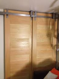 ceiling mounted bypass sliding doors by goatgear handcrafted and armstrong door hardware